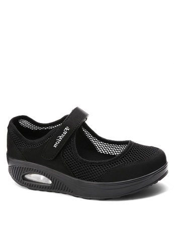 Twenty Eight Shoes black Single Strap Mesh Rocking Shoes VC699 0A157SH54A214AGS_1