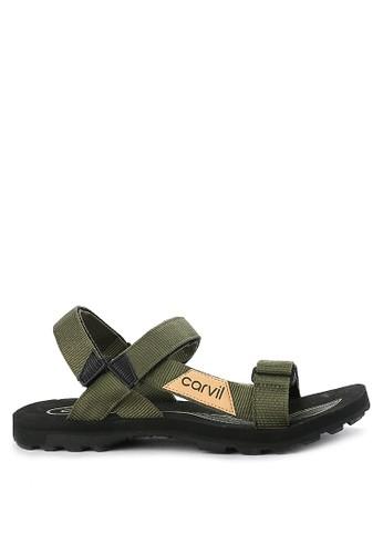 CARVIL black and green Sandal Gunung Men Douglas Gm 3384BSH5BC1680GS_1