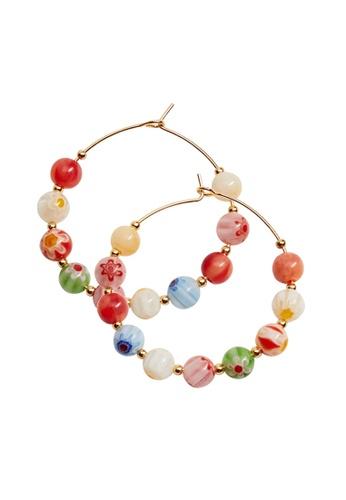 Mango gold Hoops Crystal Earrings B45B3ACF734ADBGS_1