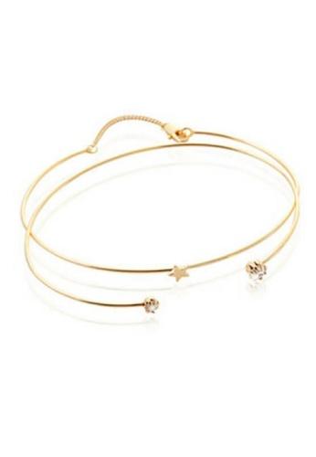 Vivere Rosse gold Starlight Bangle - Gold VI014AC76THBMY_1