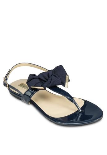 Flaze 蝴蝶esprit香港分店結夾趾平底涼鞋, 女鞋, 涼鞋