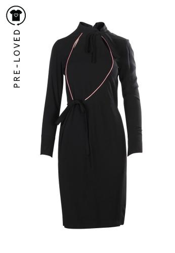 Shanghai Tang black Pre-Loved shanghai tang Long Dress 4F01BAA896AEA1GS_1