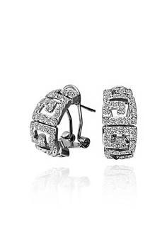 13b5fbc71 Sopistikada silver Tory Burch Inspired Earring (White Gold)  3970EAC1C910C7GS_1