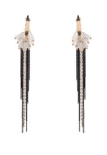 Crysesprit 衣服tal Fan Earrings With Tassel, 飾品配件, 其他