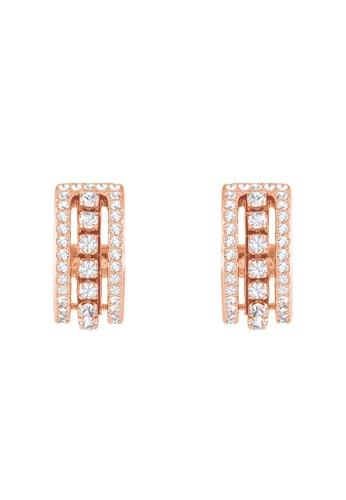 Swarovski gold Futher Pierced Earrings E4367ACEF06365GS_1