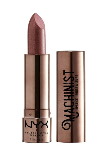 NYX Professional Makeup brown NYX Professional Makeup Machinist Metallic Lipstick - Steam CD08EBE477D60CGS_1