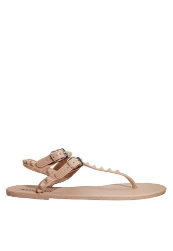 Twenty Eight Shoes 米褐色 夾趾果凍雨鞋及沙灘涼鞋 VR03 64880SHF4B117DGS_1