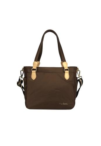 Pierre Cardin brown Pierre Cardin Premium Medium Tote Bag 03FDDAC8EC2B99GS_1