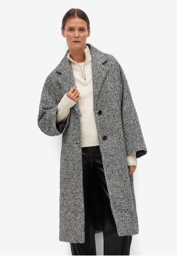 Mango black Oversize Wool Coat 9B245AAA2BBF8EGS_1