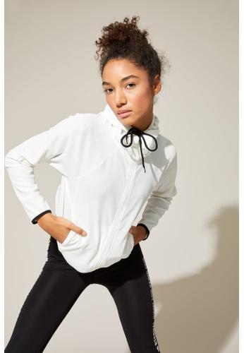DeFacto white Woman Athleisure Knitted Sweat Shirt 7E0ADAA6303EDBGS_1