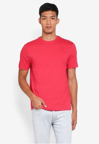 Topman 粉紅色 短袖修身T恤 F29B9AA62F344AGS_1