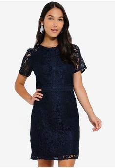 03eea52a6a7d Dorothy Perkins blue Petite Navy Lace Midi Dress BED50AA0E47652GS_1