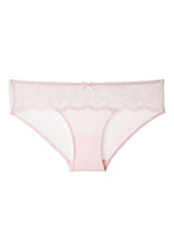 6IXTY8IGHT pink CROSBY SOLID, Modal Bandlace Hipster Panty PT10484 40419US57A31C0GS_1