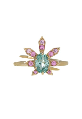 Arte Madrid pink and green and gold Arte Madrid Tropical Dream Agave Ring (Free Size) C6CAAAC539F3ECGS_1