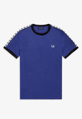 Fred Perry blue M6347 - Taped Ringer T-Shirt - (Nautical Blue) 9678AAA7AA7BB2GS_1