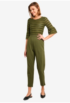 923d2541b9f French Connection green Vallis Jersey Jumpsuit 479A3AA3F4D833GS 1 French  Connection Vallis Jersey Jumpsuit RM 459.00. Sizes 6 8 10 12