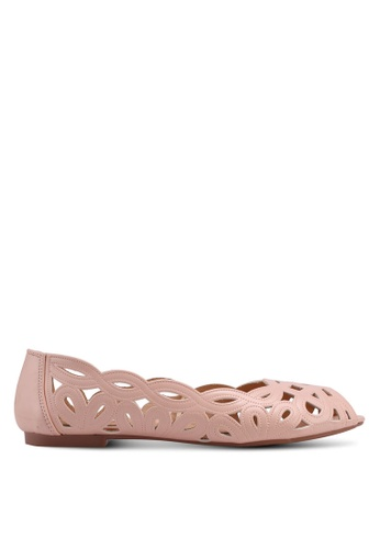 Carlton London pink Laser Cut Ballerinas E8473SH0307DE5GS_1