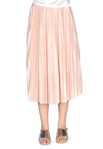 London Rag pink Pink Pleated Midi Skirt 40842AAFFD9FA2GS_1