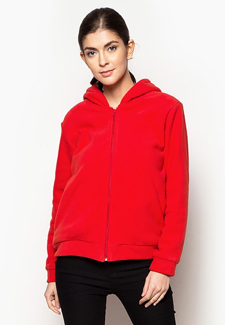Thick Fleece Jacket with Hood