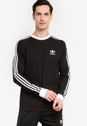 ADIDAS 黑色 adicolor classics 3-stripes long sleeve tee 92E84AA477DFC7GS_1