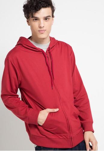Tolliver red Hoodies With Zipper E9481AADAD0970GS_1