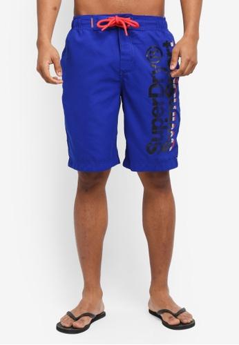 Superdry blue Superdry Boardshorts 79FFBUS896BD05GS_1