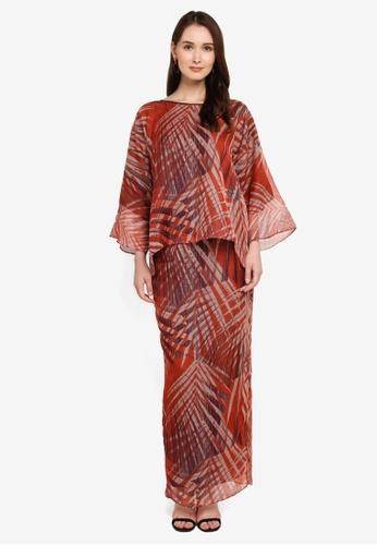 Zuco Fashion orange Midi Kurung Kedah Organza 52ACCAAA968A49GS_1
