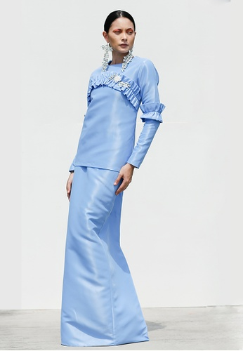 Poppy Kurung in Ice Blue from Blubelle in Blue