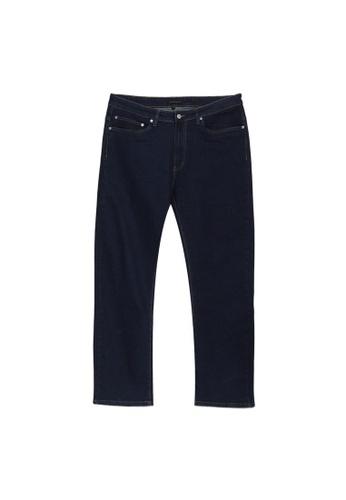 Electro Denim Lab blue Plus Size Straight Cut Jeans A4542AAB045FA1GS_1