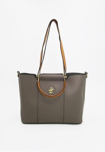 1b4883cdf0d4 Beverly Hills Polo Club brown All In Tote Handbag FB376AC8E26672GS 1