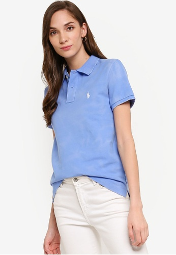 polo ralph lauren blue Short Sleeve Fray Polo Shirt 469CBAA962CF90GS_1