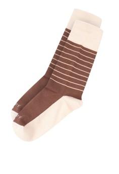 Lines Mocha Socks