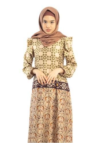 Heart n Feel Muslim brown Luxury Muslim Dress F192EAA2EB325EGS_1