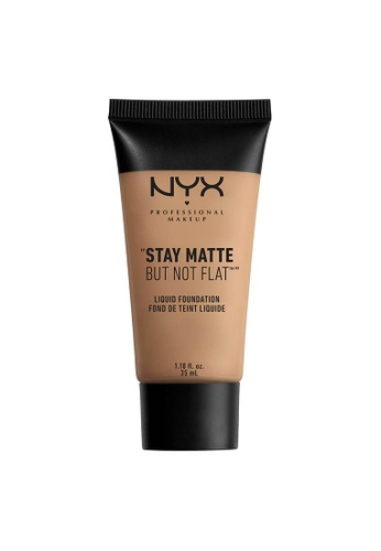 NYX Professional Makeup beige NYX Professional Makeup Stay Matte But Not Flat Liquid Foundation - SIENNA 5C747BE665F795GS_1