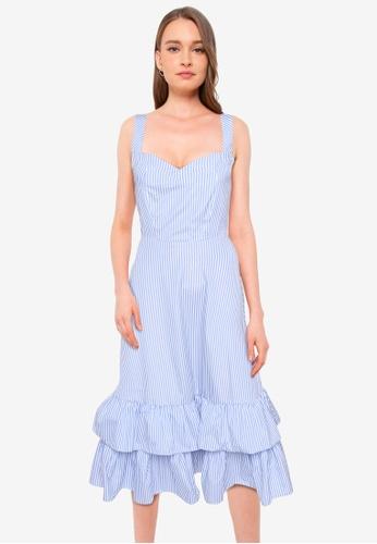 ZALORA BASICS multi Sweetheart Tiered Dress 12ACDAA91EEEFFGS_1