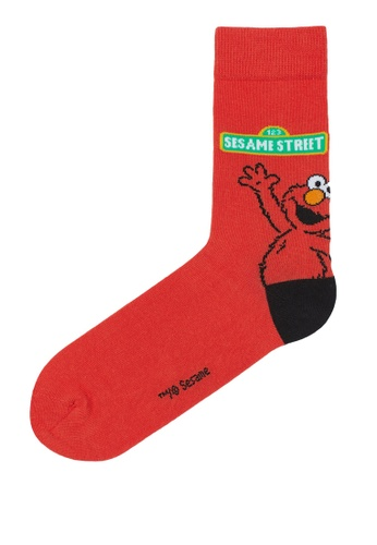 H&M red and multi Crew Socks 1D15BAA05642F6GS_1