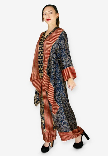PANGOI black and red and multi and gold PANGOI Exclusive Babyfly Viscose Batik Traditional Muslimah Wear 8A938AA856D3C5GS_1