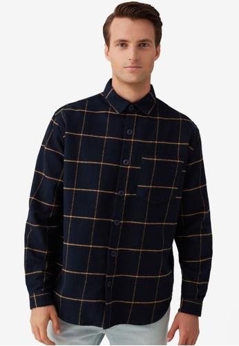 OVS blue Comfort-Fit Shirt Flannel Jacket 0C501AA1978258GS_1