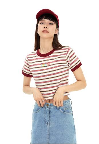 Twenty Eight Shoes Short Contrast Stripe T-shirt HH0032 A5DE9AA5A42369GS_1
