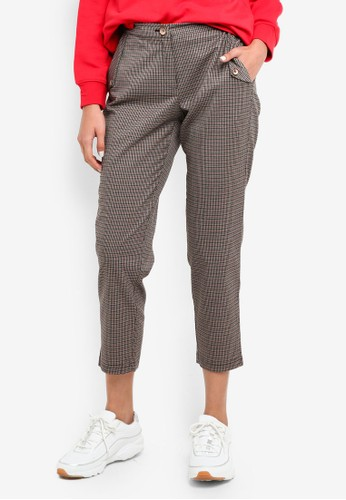 ESPRIT black Checked Pants 795B6AA8161567GS_1