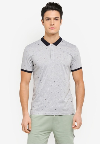 JAXON grey Nautical Motif Polo Shirt 166BDAAC43276AGS_1