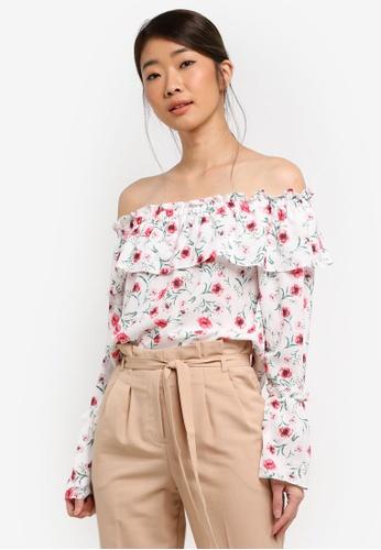 35f31f61cbe40d Buy Miss Selfridge Poppy Sleeve Bardot Top