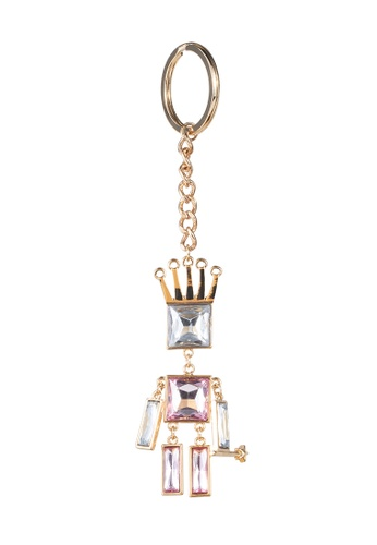 My Flash Trash gold Jewel person keyring D398AAC90EE43CGS_1
