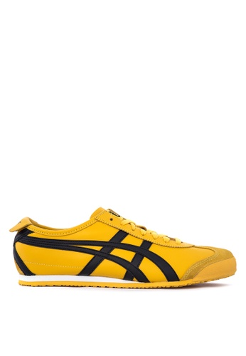 Onitsuka Tiger black and yellow Mexico 66 Leather Sneakers ON625SH34THTPH_1