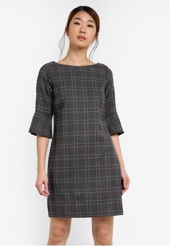 Dorothy Perkins grey Check Zip Pocket Shift Dress DO816AA0SF9VMY_1
