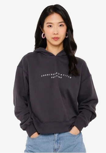 Abercrombie & Fitch grey Seasonal Logo Popover Sweatshirt CC152AA23370D6GS_1