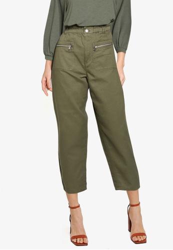 JACQUELINE DE YONG green Sophie Paperbag Pants EE4AEAAE96A83FGS_1