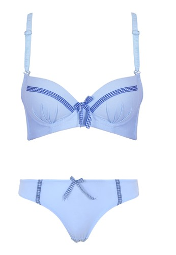 Cynthia blue Genie Bra Support Underwire-Blue CY646US0V7O2ID_1