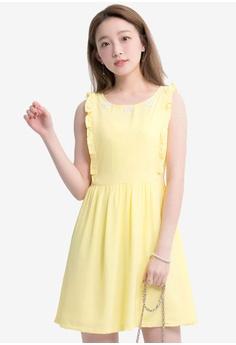 1f6563cbfbb76 Yoco yellow Frill And Crochet Detail Mini Dress BE6EAAA18E8C59GS_1