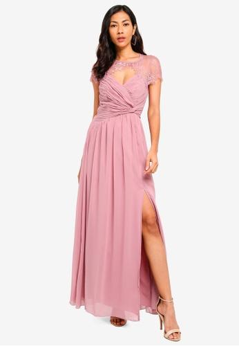 Little Mistress pink Blush Wrap Maxi Dress 64982AA733147AGS_1